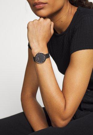 GLAMOUR GLOBE MAXI - Reloj - black(rose gold-coloured