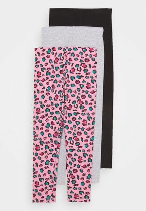 BASIC GIRLS 3 PACK - Legginsy - pink/light grey
