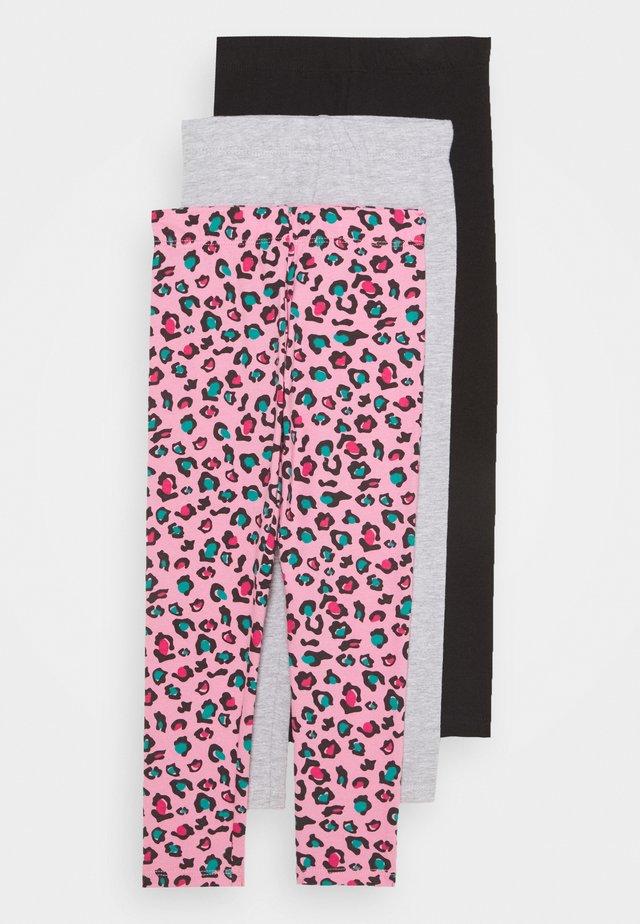 BASIC GIRLS 3 PACK - Legging - pink/light grey