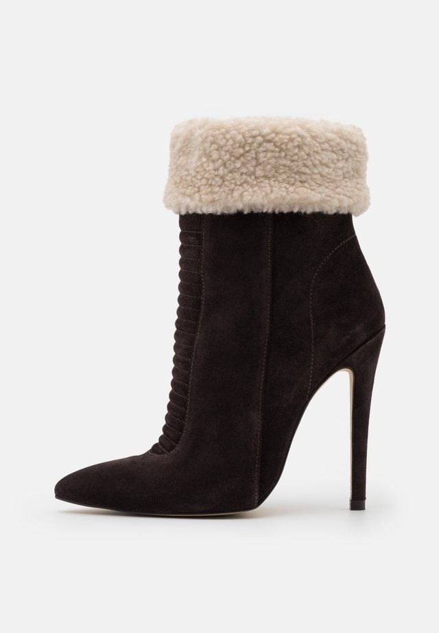 LEATHER - Winter boots - brown