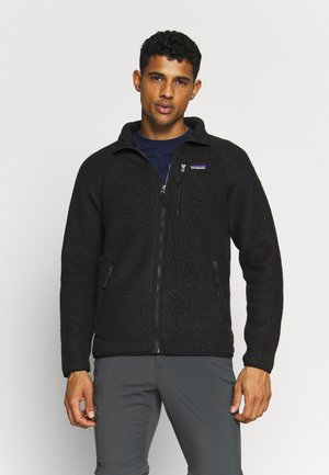 RETRO PILE - Fleece jacket - black