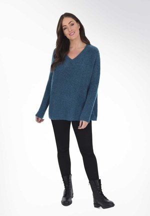 BOXY  - Jumper - blue-grey