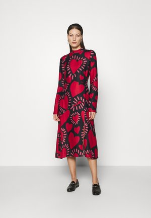 HEART MIDI DRESS - Day dress - multi