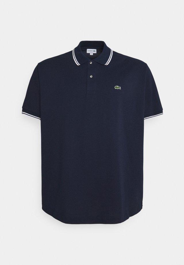 PLUS - Polo - navy blue/white