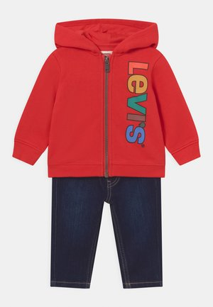 HOODIE SET - Sweater met rits - flame scarlet