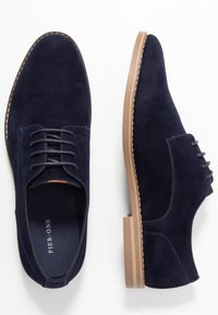 Pier One - Snøresko - dark blue - 1