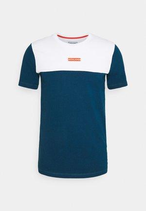 JCOBLOCKS TEE CREW NECK - T-shirt med print - white