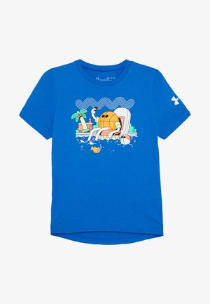 MR BUCKETS TEE - Print T-shirt - versa blue/white