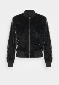 ZIP POCKET CROPPED - Bomber Jacket - pearl black