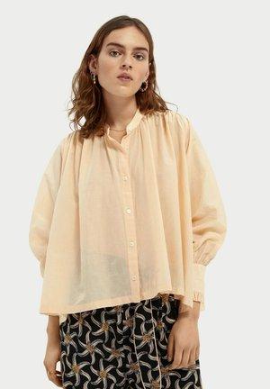 Button-down blouse - mango tango