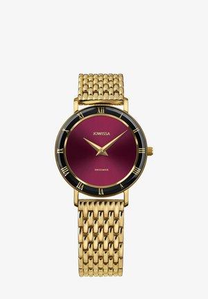 Horloge - bordeaux