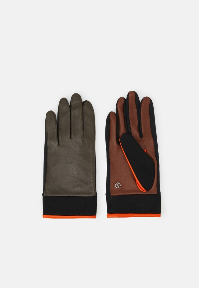 Gloves - multicolor/olive