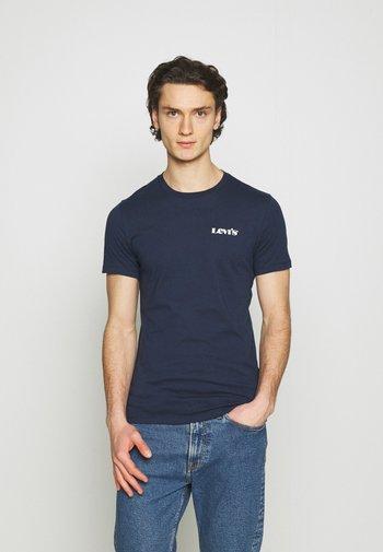 CREWNECK GRAPHIC 2 PACK - Print T-shirt - blues/white
