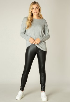 YESSI - Long sleeved top - grey melange