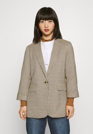 MICRO CHECK - Krátký kabát - black