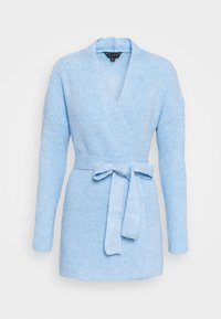 Dorothy Perkins - CHUNKY WRAP LONGLINE - Cardigan - light blue - 0