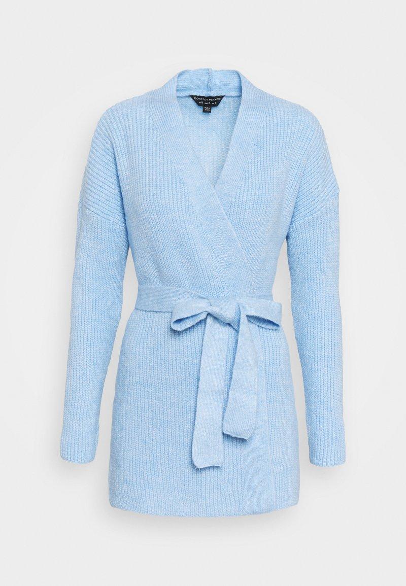 Dorothy Perkins - CHUNKY WRAP LONGLINE - Kardigan - light blue