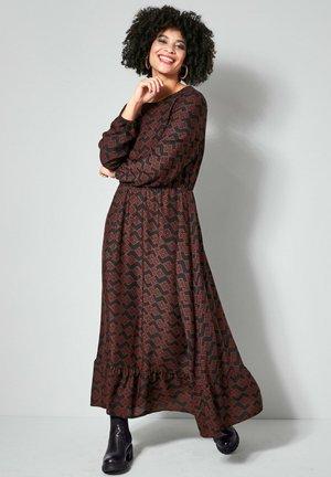 Maxi dress - schwarz haselnuss