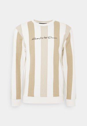 VEDLO CREW - Sweatshirt - dark sand/white