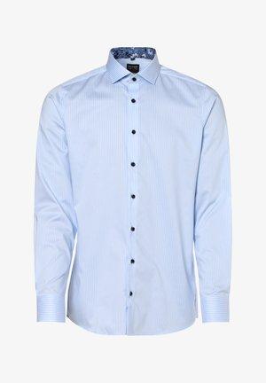 Shirt - hellblau weiß