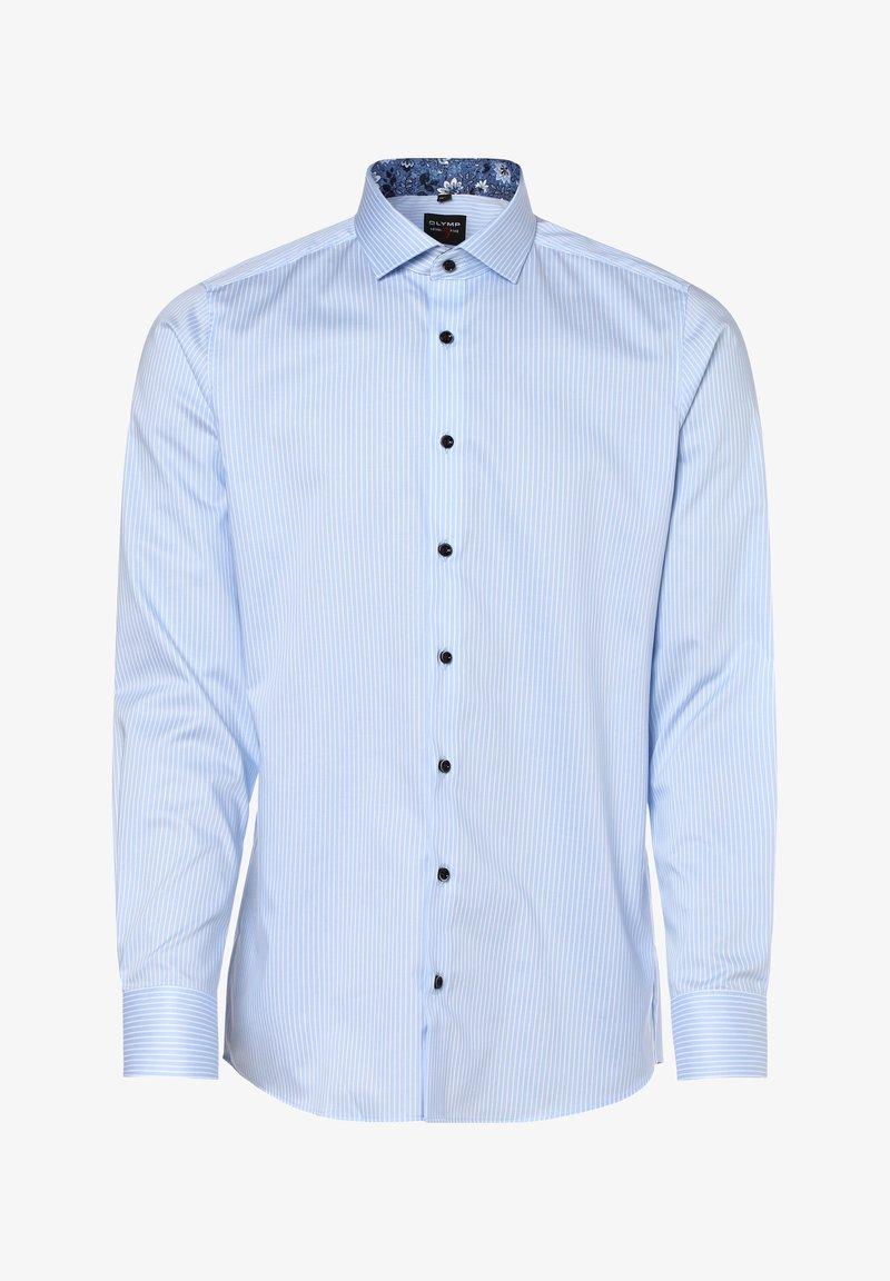 OLYMP - Shirt - hellblau weiß