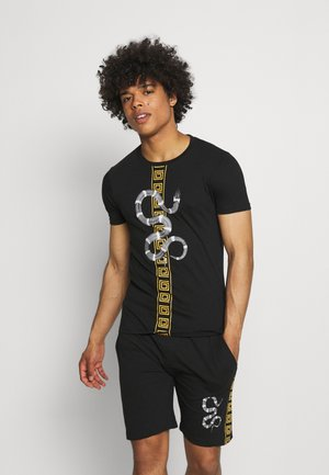 SNAKE PRINTED SET - T-shirt con stampa - black