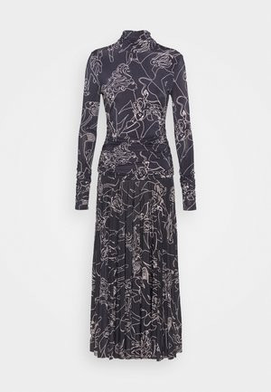 PRINTED PLEATED DRESS - Robe en jersey - midnight blue