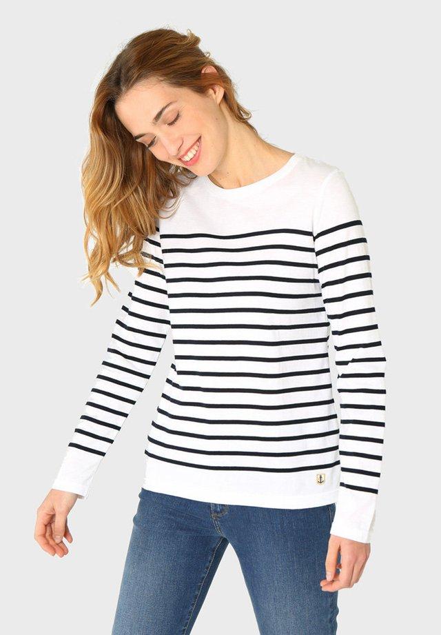 PORT-LOUIS - MARINIÈRE - T-SHIRT - T-shirt à manches longues - blanc rich navy