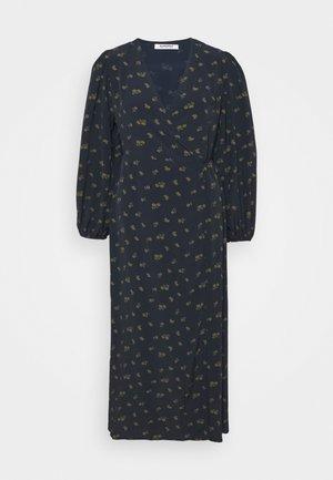 LONG SLEEVE WRAP DRESS WITH V NECK - Maxi dress - olive rose