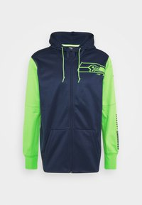 Nike Performance - NFL SEATTLE SEAHAWKS LEFT CHEST MASCOT FULL-ZIP THERMA HOOD - Klubové oblečení - college navy/action green - 4