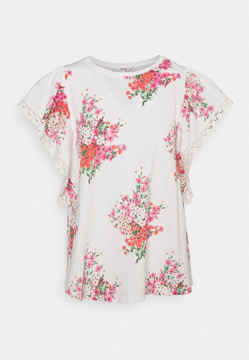 Desigual - MERY - T-shirt imprimé - white
