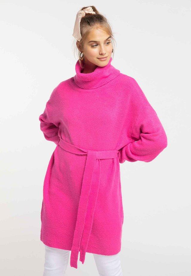 Abito in maglia - neon pink
