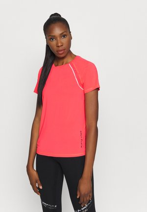 ONPPERFORMANCE TRAINING LOOSE - Jednoduché triko - fiery coral/black