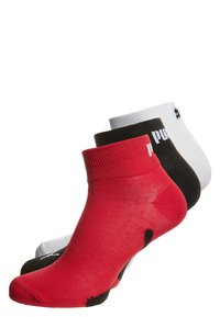 Puma - 3 PACK - Socks - black/white/red - 0