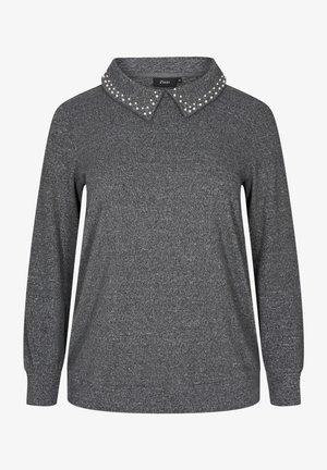 PERLEN - Long sleeved top - dark grey mel