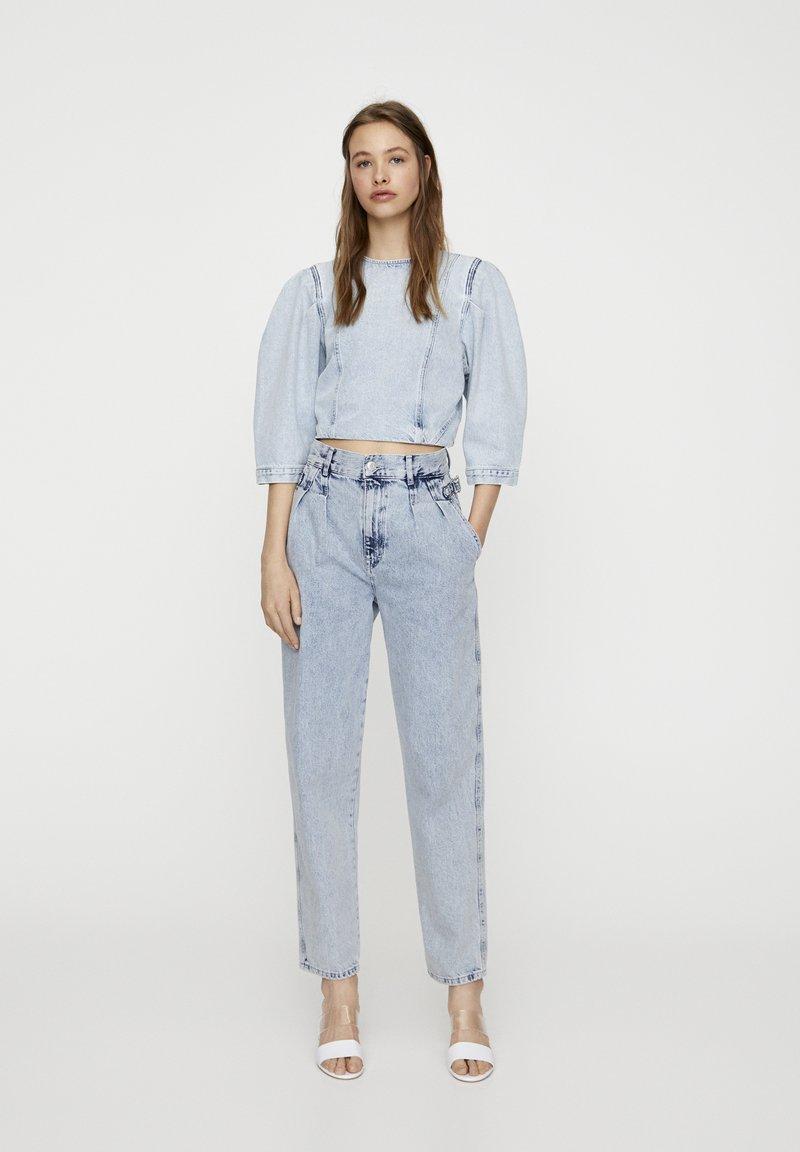 PULL&BEAR - Jeans a sigaretta - blue