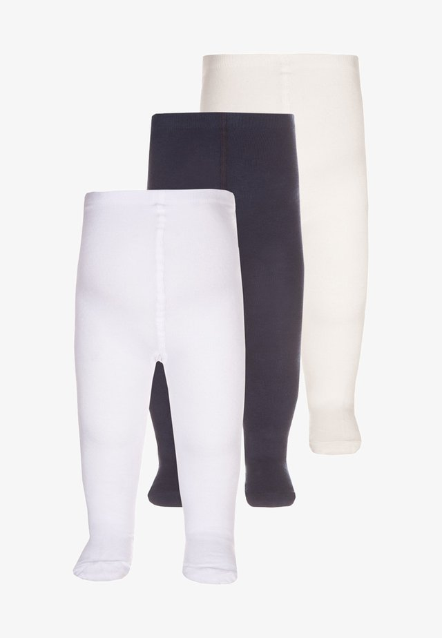 3 PACK - Collants - white/dark blue/offwhite