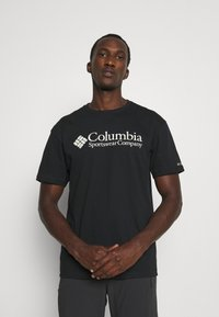Columbia - BASIC LOGO SHORT SLEEVE - Printtipaita - black - 0