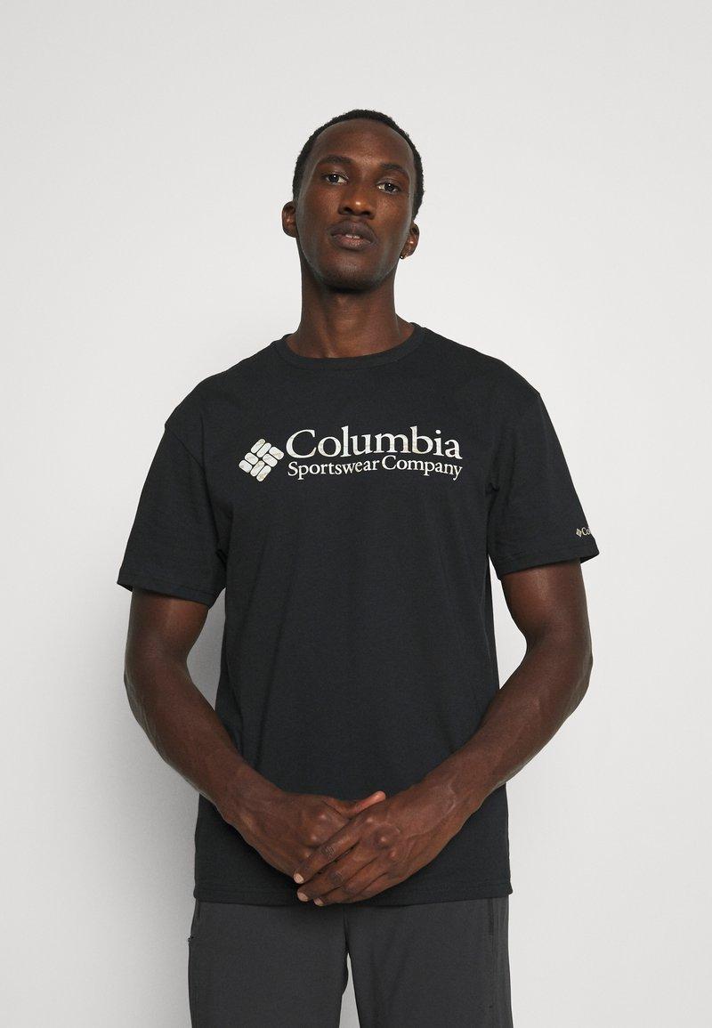 Columbia - BASIC LOGO SHORT SLEEVE - Printtipaita - black