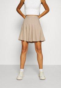 Monki - TINDRA SKIRT - Pleated skirt - beige medium dusty - 0