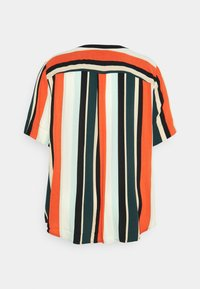 MY TRUE ME TOM TAILOR - BLOUSE WITH SLANTED PLACKET - Print T-shirt - multicolor sahara - 6