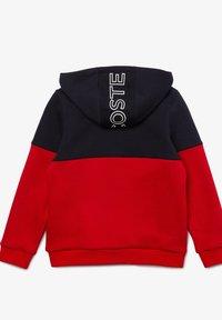 Lacoste Sport - veste en sweat zippée - bleu marine / rouge / blanc - 4