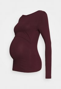 Anna Field MAMA - 2 PACK - NURSING FUNCTION LONG SLEEVE TOP - Topper langermet - black/bordeaux - 1