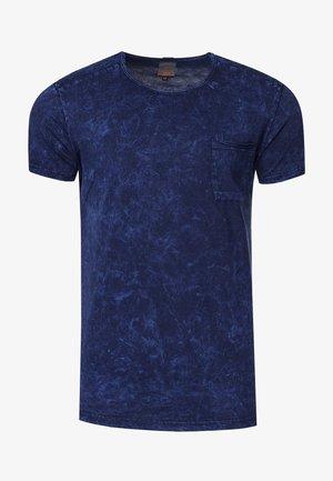 RUNDHALS - Print T-shirt - marine