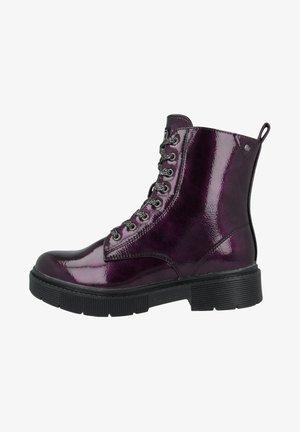 Platform ankle boots - purple