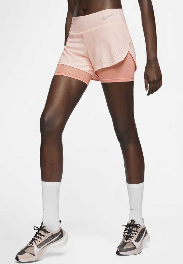 ECLIPSE 2 IN 1 - Sports shorts - washed coral/pink quartz