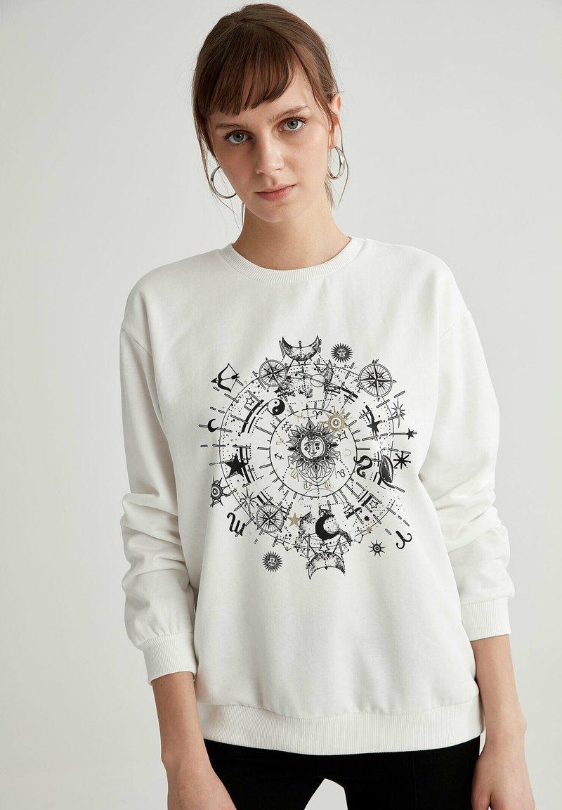 DeFacto - Sweatshirt - ecru