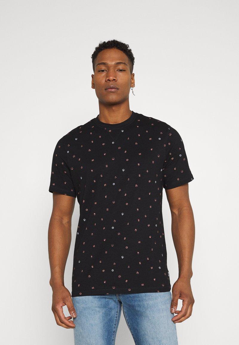 Only & Sons - ONSMALIK LIFE TEE - T-shirt med print - black