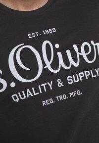 s.Oliver - KURZARM - Triko spotiskem - black - 5