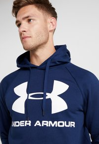 Under Armour - RIVAL SPORTSTYLE LOGO HOODIE - Hættetrøjer - academy/white - 4